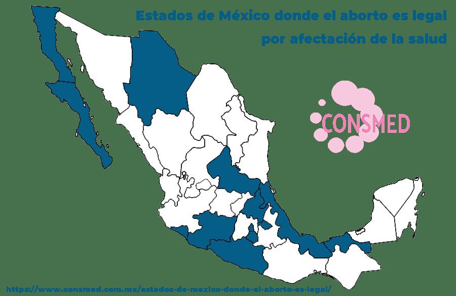 Estados de México donde el aborto es legal por inseminación no consentida
