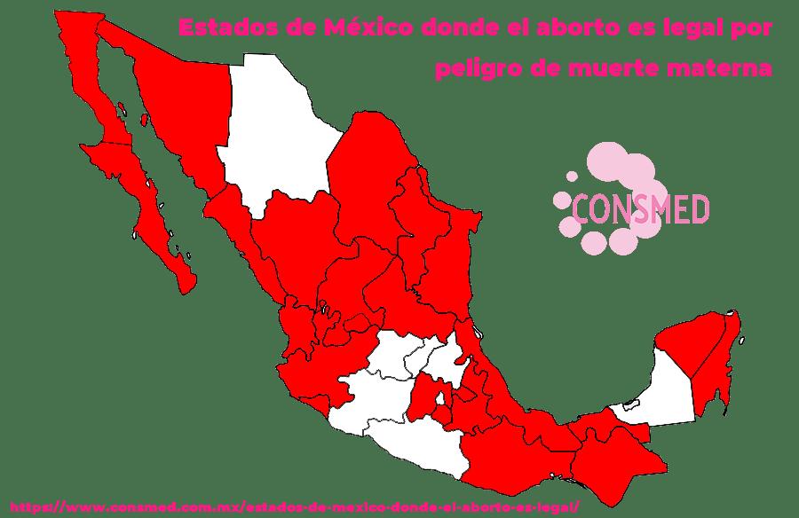 Estados de México donde el aborto es legal por peligro de muerte materna