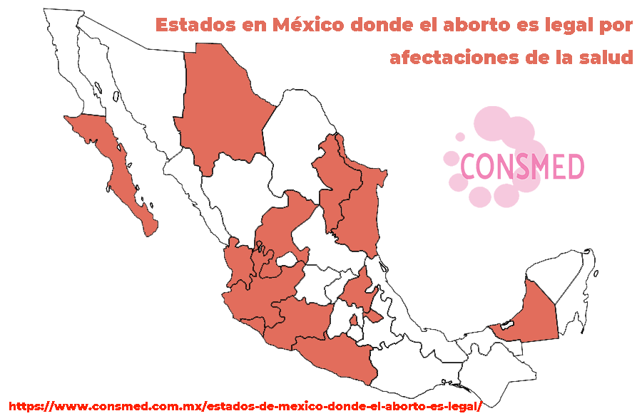 Estados en México donde el aborto es legal por afectaciones de la salud