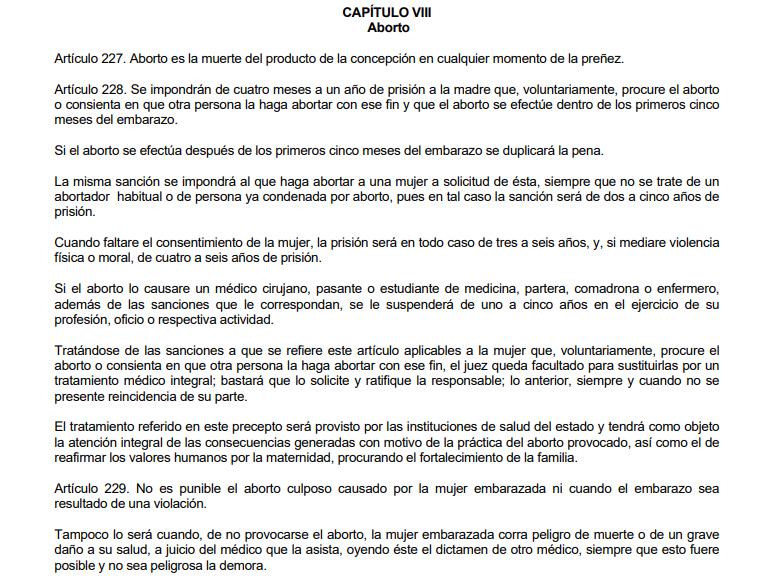 Ley del aborto en Guadalajara, Jalisco