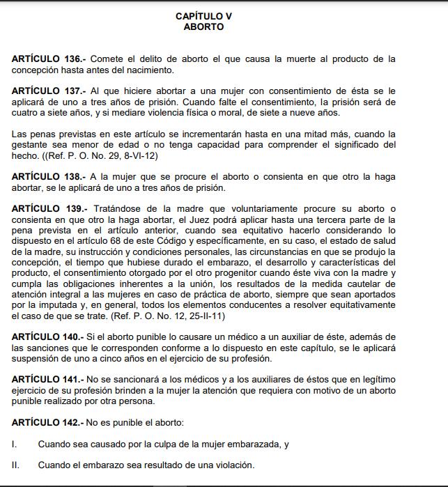 Ley de aborto en Querétaro